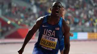 Nearly 400 miles away from his coach, world 100 metres champion Christian Coleman trains for an Olympics that may never take place in 2020. Photo: IANS