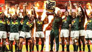 The Blitzboks celebrate their victory at the Canada7s in Vancouver. Photo: @blitzboks on twitter