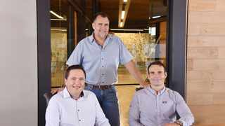 From left  Henk Deist, the Chief Executive of Atterbury; Louis van der Watt, Group Chief Executive and Armond Boshoff, Chief Executive of Atterbury (Southern Africa). Photo: Supplied