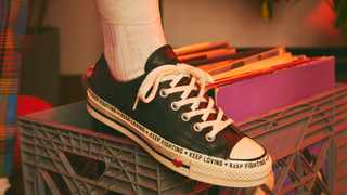 The new 'Love the Progress' Converse collection is inspired by the power of love, unity, and community. Picture: Supplied.
