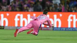 With the World Cup looming Steve Smith says there is no concern with his elbow after he took a diving catch in the IPL. Photo: @IPL via Twitter