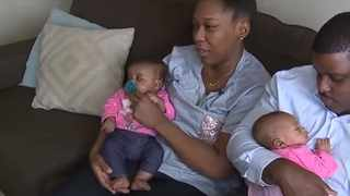 Derrick and Monique Rodgers with their twins Morgan and Madison. Picture: YouTube.com