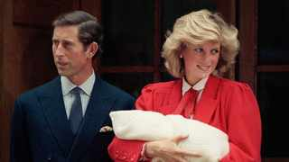 In this Sept. 16, 1984 file photo, the Prince and Princess of Wales, Prince Charles and Princess Diana leave St. Mary's Hospital in Paddington, London with their new baby son, Prince Harry. Picture: AP