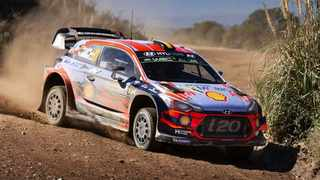 Neuville leads Ogier by just 10 points in the driver standings. Picture: Hyundai.