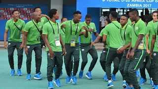 Amajita players in a lighter mood during the Under-20 World Cup. Photo: www.safa.net