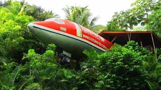 Hotel Costa Verde boasts the 727  Fuselage Home created by a  vintage 1965 Boeing 727 airframe. Picture: Hotel Costa Verde.
