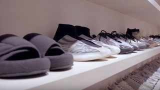 The creative director behind Yeezy clothing has a walk-in closet to rival some of the best in the business. Picture: YouTube.com