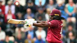 The West Indies' Chris Gayle in action against England on Friday. Photo: Action Images via Reuters/Peter Cziborra