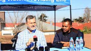MMC for Environment and Infrastructure Services, Nico de Jager and COO Dernek Kwale brief the media pertaining to the Johannesburg water cuts taking place early next week. Picture: Dimpho Maja/ African News Agency(ANA)