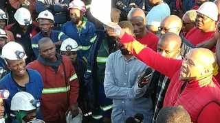 Numsa secretary general Irvin Jim address union members at the end of the nine-days underground strike at Lanxess mine in Rustenburg.Numsa said on Tuesday that they were preparing to meet with auto employers for the second round of wage talks.  Picture: African News Agency/ANA Reporter