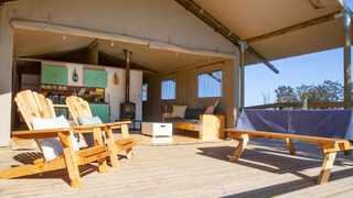 Companies that offer glamping experiences have thought about all the creature comforts guests will need. Picture: Supplied