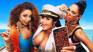 """Mya, Lil Kim and Rozonda """"Chilli"""" Thomas go on a 10-day cruise on their new show Girls Cruise. Picture: VH1"""
