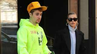 Justin and Hailey Bieber leave their apartment in Brooklyn New York. Picture: Bang Showbiz