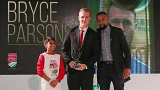 Bryce Parsons was the big winner at the 2019 Cricket South Africa Breakfast Awards. Photo: Muzi Ntombela/BackpagePix