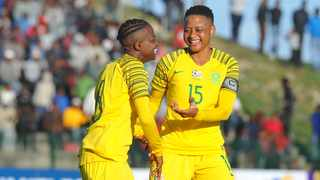 Refiloe Jane (right) will stood in as captain for Banyana Banyana while Janine van Wyk is out injured. Photo: Sydney Mahlangu/BackpagePix