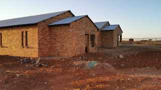 This Lottery-funded drug rehabilitation centre in Kuruman is unfinished nearly two years after it received funding. Photo: Raymond Joseph