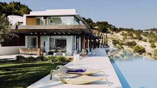 Duchess of Sussex spent a 6-day break with her husband, Prince Harry, and baby Archie at the lavish seven-bedroom Sa Calma villa in Ibiza. Picture: Sa Calma villa