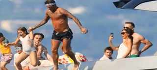 The Beckham clan joined Sir Elton John, 72, his husband David Furnish, 56, and their sons Zachary, eight, and Elijah, six, on the family's yacht in the Cote d'Azur. Picture: YouTube.com