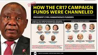 In the past few weeks, Independent Media's investigative unit reported on emails and bank statements relating to president Cyril Ramaphosa's CR17 campaign. Screengrab.