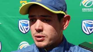 Quinton de Kock will be captaining during their T20 series against India. Photo: Muzi Ntombela/BackpagePix