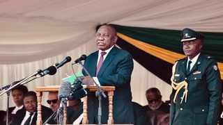 President Cyril Ramaphosa was speaking at the state funeral of former Zimbabwean president Robert Mugabe in Harare on Saturday. Picture: GCIS