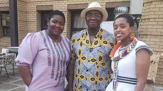 Judge president Dunstan Mlambo with court manager Salome Nyakake, left, and chief librarian Nelisiwe Shandu. Picture: Zelda Venter