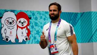 Bok scrumhalf Cobus Reinach was blissfully unaware his hattrick made RWC history on Tuesday. Photo: Steve Haag Sports / Hollywoodbets