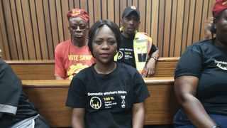Syliva Mahlangu in court. She is the daughter of Maria Mahlangu who died while on duty. Picture: Zelda Venter