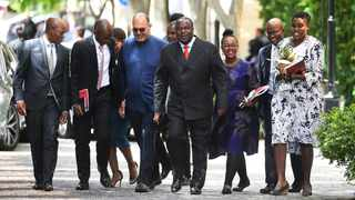 Finance Minister Tito Mboweni arrives in Parliament. The Minister that since South Africa re‐joined the community of nations in 1994 it had played its part in advancing the peaceful international order. Photo: Pando Jikelo/African News Agency (ANA)