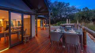 The lodge is enclosed within the reserve, resulting in the humans being subtly fenced in, while game, including several crocodiles, roam free, including the spectacular birdlife. Picture: Supplied
