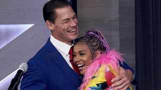 """I didn't see him come in so when people were screaming I'm like yoh I'm killing it,"" said Sho Madjozi talking about the moment she met John Cena. Picture: Twitter"