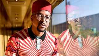 TV presenter and actor Maps Maponyane on The Blue Train. Picture: Instagram