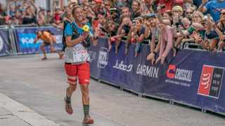 Courtney Dauwalter takes line honours at this year's Ultra-Trail Mont Blanc 160 miler. Photo: supplied