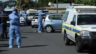 The scene where a 52-year-old lieutenant-colonel was shot dead in Bishop Lavis this morning. Photo: Henk Kruger / African News Agency (ANA)