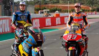 Alex Marquez (left) and brother Marc are officially a team from next year. File picture: Dalla Porta / Reuters / Heino Kalis.