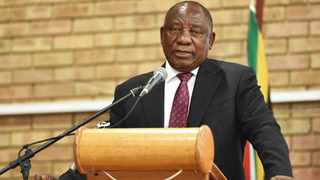 President Cyril Ramaphosa speaks at the Mogol Club Hall in Lephalale. The resolve the government showed in putting troubled national carrier South African Airways into business rescue last week cuts across all key state-owned enterprises (SOEs), which it will not allow to collapse, President Cyril Ramaphosa said on Monday.  Picture: Jairus Mmutle/GCIS