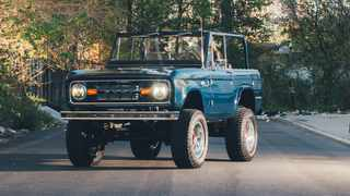 A 1974 Ford Bronco restored by Gateway Bronco. Picture: George Etheredge/The New York Times.