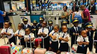 The airline posted a special message on Facebook, welcoming the group. Picture: @FlyMangoSA/Facebook