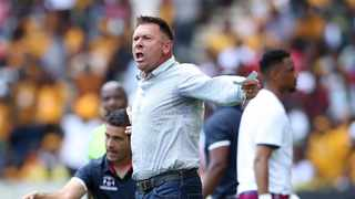 Maritzburg United head coach Eric Tinkler admitted that his troops suffered from a hangover as they lost 2-0 to SuperSport United on Wednesday. Photo: Samuel Shivambu/BackpagePix