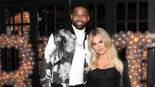 Tristan Thompson and Khloe Kardashian pose for a photo as Remy Martin celebrates Tristan Thompson's Birthday at Beauty & Essex on March 10, 2018 in Los Angeles, California. Picture: Bang Showbiz