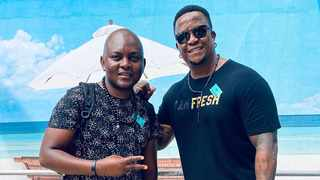 DJ's Fresh and Euphonik just before boarding the MSC Orchestra for Oh Ship 2019. Picture: Twitter.