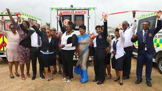 KZN Health MEC Simelane-Zulu launched 136 new ambulances today. Picture: Supplied.