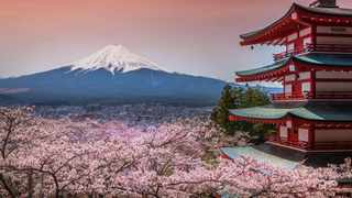 A trip to Hokkaido, Japan, might include powdery ski runs and views of a (dormant) volcano. Picture: Scott Dunn Luxury Tours.