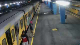 Metrorail released CCTV footage of the two suspects allegedly involved in the recent train fires at the Cape Town Station. Picture: Metrorail/Supplied