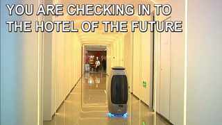 A number of hotels experiment with robotics in China, Japan and South Korea. Picture: Supplied.
