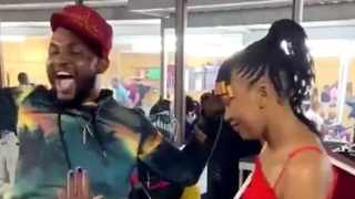 A video of a wedding proposal at Eyadini Lounge has gone viral. Picture: Twitter