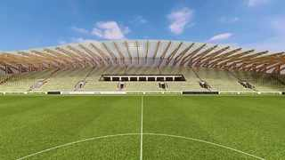 Plans for Forest Green Rovers' new 5,000-seat wooden stadium have been approved. Photo: Zaha Hadid Architects