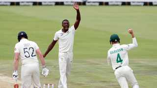 Kagiso Rabada (pictured) and Vernon Philander got early wicket for the Proteas on day two of the first Test against England. Photo: Samuel Shivambu/BackpagePix