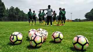 The full Basetsana squad had their first training session on Monday, in Johannesburg. Photo: @Safa_net on twitter