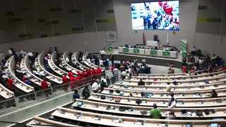 A scuffle broke out during Tshwane's special council sitting at Tshwane House Council Chamber. Picture: Rapula Moatshe
